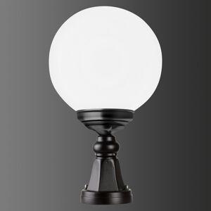 LCD Soklové světlo 1141 s kulatým stínidlem černá/bílá