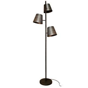 Eco-Light Stojací lampa Colt, 3 zdroje, mražená-šedá