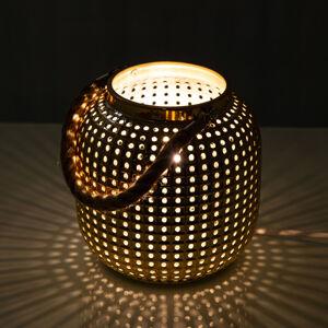 Nino Leuchten Stolní lampa Bola, zlatá
