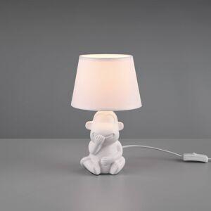 Reality Leuchten Stolní lampa Chita z keramiky, bílá