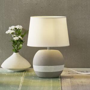 Nino Leuchten Stolní lampa Creto s bílým textilním stínidlem
