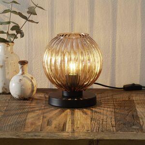 Freelight Stolní lampa Zucca, skleněné stínidlo, jantarová