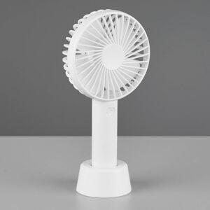 Reality Leuchten Stolní ventilátor Windy, USB/baterie, bílá