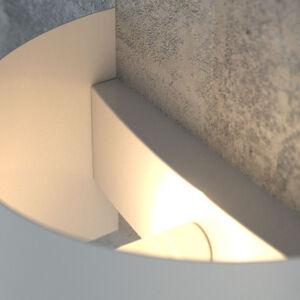 EMIBIG LIGHTING Nástěnné světlo Fold s klenutým stínidlem, bílá