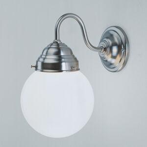 Berliner Messinglamp Nástěnné světlo Larry, nikl matný