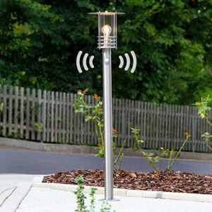 Lindby Svítilna pro osvětlení chodníků Miko nerez snímač